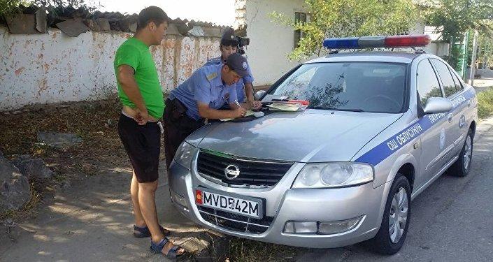Ош облусунун Кайгуул милиция башкармалыгы Рулда аттуу рейди
