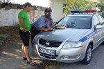 Управление патрульной милиции Ошской области начало в регионе рейд За рулем