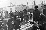 Режиссер фильма Манасчи Болот Шамшиев во время съемок. Архивное фото
