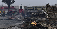 Сгоревший дом, который загорелся после урагана Харви в, штате Техас, 26 августа 2017 года
