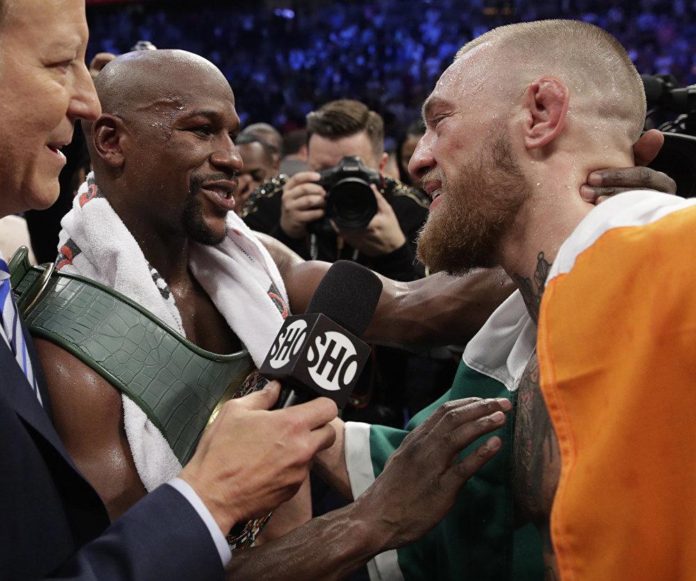 Боксерский поединок между Флойдом Мэйуэзером и Конором Макгрегором