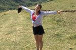 Валерия Фадеева из Беларуси, которая приехала в Кыргызстан в рамках молодежной программы
