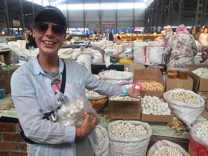 Девушка из Беларуси Валерия Фадеева, которая приехала в Кыргызстан в рамках молодежной программы