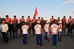 Сборная Кыргызстана по кок бору после финального матча на чемпионате мира по кок бору в Астане