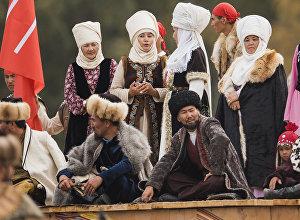 Театрализованное шое в рамках Всемирных игр кочевников на джайлоо Кырчын