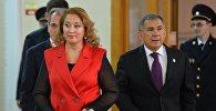 Архивное фото президента Республики Татарстан Рустама Минниханова с супругой Гульсиной