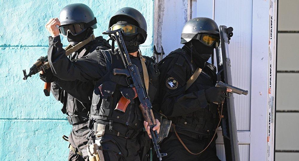 Военнослужащие спецназа МВД Кыргызстана. Архивное фото