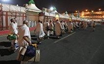 Сауд Аравияга келген зыяратчылар. Архивдик сүрөт