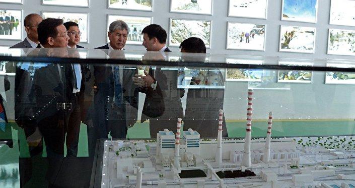 Торжественная церемония открытия главного корпуса новых энергоблоков ТЭЦ города Бишкек