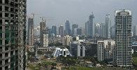 Вид на город Джакарта, Индонезия. Архивное фото