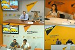 Деятельность блогеров обсудили в пресс-центре Sputnik Кыргызстан