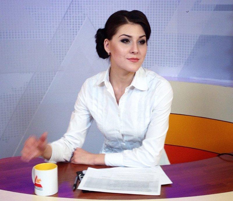 Диктор на телеканале Пирмаида Алеся Цурикова