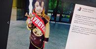 Победитель международного конкурса красоты Little mister world beauty Azia 2017, кыргызстанец Матвей Дейнеко, фото со страницы Instagram пользователя beauty_company_kyrgyzstan