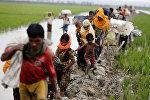 Мьянмадагы рохинджа элинин Бангладешке качуусу