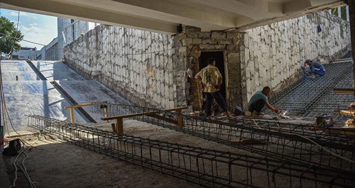 Ремонт подземного перехода в Бишкеке. Архивное фото