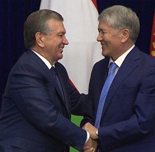 О прорывных договоренностях между РУз и КР — кадры выступлений президентов