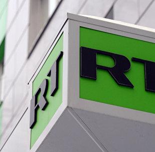 Логотип телеканала Russia Today. Архивное фото