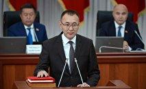 Первый вице-премьер-министр Кыргызской Республики Толкунбек Абдыгулов