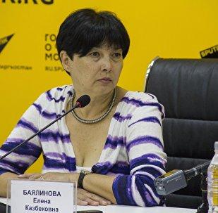 Консультант Министерства здравоохранения КР Елена Баялинова . Архивное фото