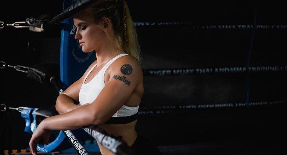Кыргызстандык UFC мушкери Валентина Шевченко. Архив
