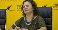 Основательница промоушн-центра ВитЛайн Виталина Шевченко в мультимедийном пресс-центре Sputnik Кыргызстан