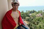 Кыргызстандык тайбоксер Жаныбек Бейшебек уулу. Архивдик сүрөт