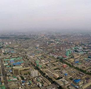 Это надо видеть — столица Северной Кореи с высоты птичьего полета