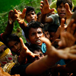 Рохинжа-качкындары Кокс-Базар шаарындагы (Бангладеш) убактылуу лагерге жайгашты