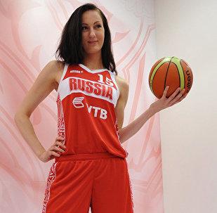 Россиялык модель жана баскетболчу Екатерина Лисина. Архив