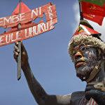 Кениянын президенти Ухуру Кеньяттаны колдогон тарапташтары шайлоо алдындагы митингде
