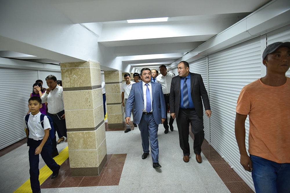 Мэр принимает участие в открытии реконструированного подземного перехода на пересечении проспектов Чуй и Манаса