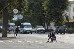 Бишкек шаарынын Чүй проспекти. Архивдик сүрөт