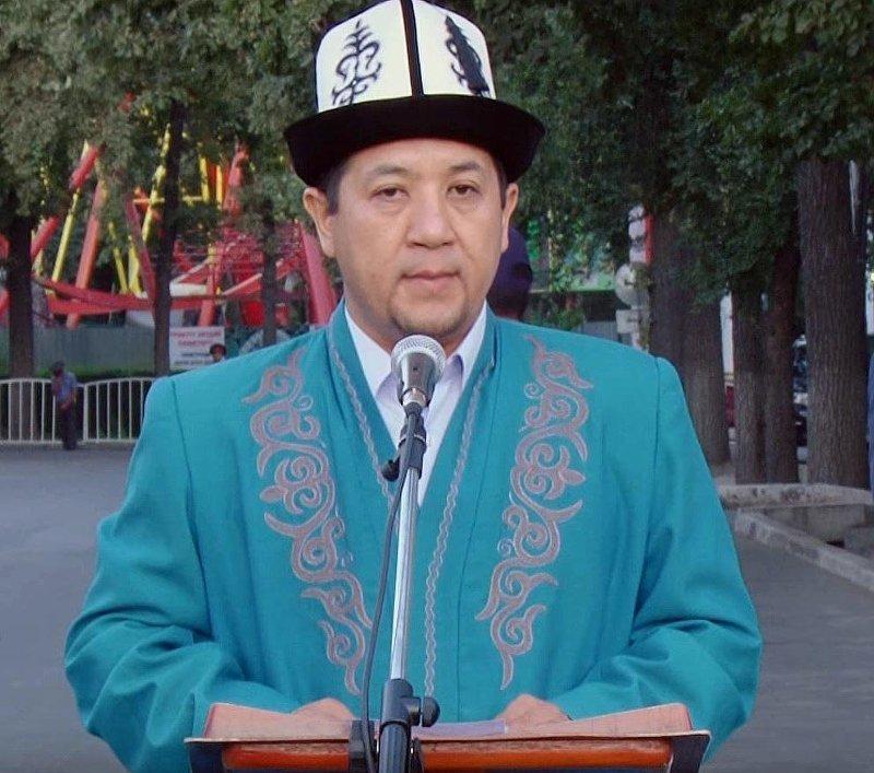 Казы по Ошской области Султанали ажы Гапуров во время выступления
