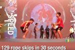 Рекордная скорость! — 4 прыжка через скакалку за секунду