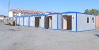 Россия передала Кыргызстану 35 мобильных однокомнатных домов в качестве гуманитарной помощи