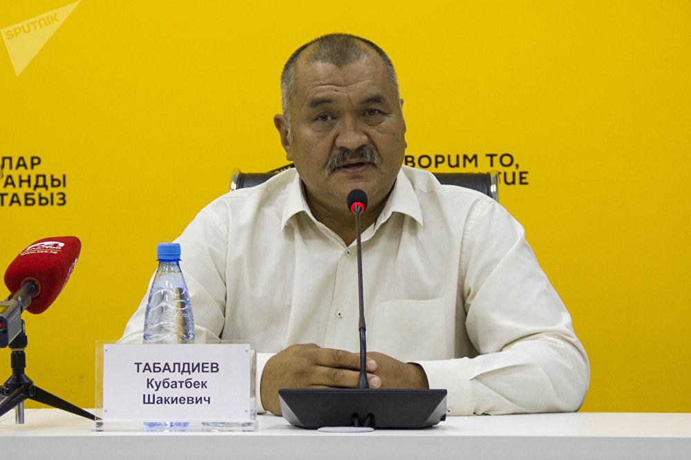 Археолог, кандидат исторических наук, профессор Кыргызско-Турецкого университета Манас Кубатбек Табалдиев