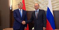Находим понимание по всем вопросам — видео со встречи Атамбаева и Путина