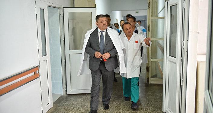Открытие приемного блока в БНИЦТО в Бишкеке