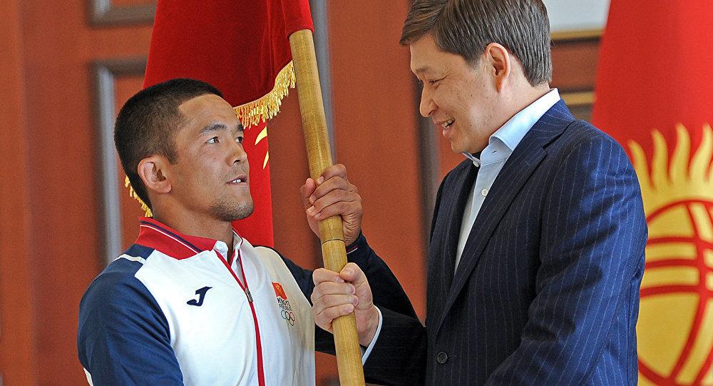 Премьер-министр Кыргызской Республики Сапар Исаков принял участие в торжественной церемонии проводов спортивной делегации Кыргызстана для участия в V Азиатских играх в закрытых помещениях и по боевым искусствам. 15 сентября, 2017 года