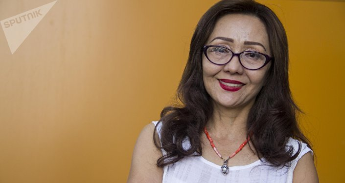 Кыргыз Республикасынын эмгек сиңирген артисти, актриса Шайыр Касымалиева