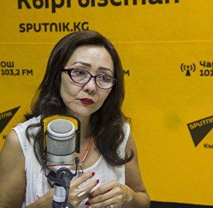 Кыргызстандын эмгек сиңирген артисти, актриса Шайыр Касымалиева маек учурунда