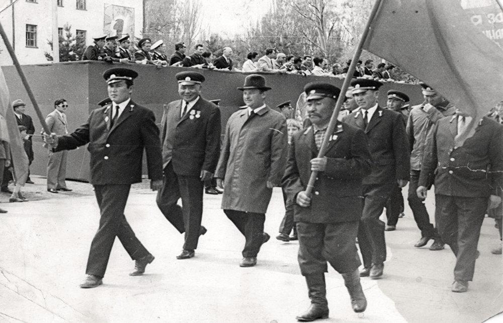 Москва шаарындагы парадда өткөн кыргызстандык токойчулар