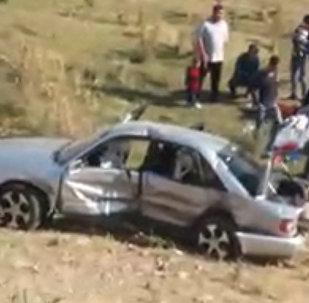 Лобовое столкновение двух авто под Кантом — видео с места ДТП