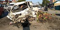 В результате ДТП на пересечении улиц Фрунзе и Алматинской с участием грузовика, портера с арбузами и Ford  пострадали два человека