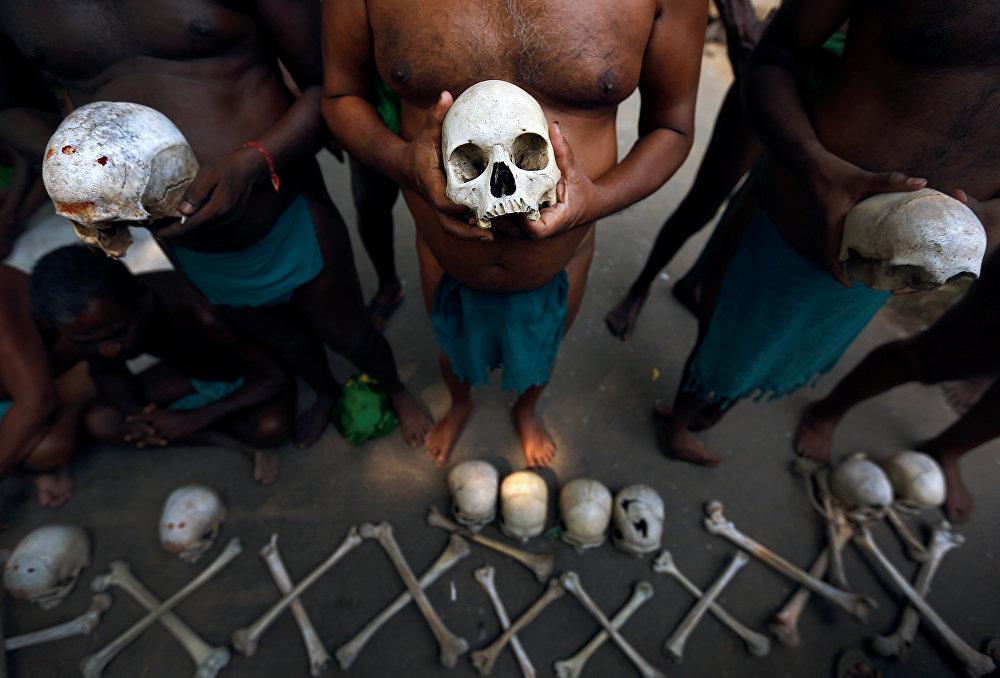 Акция протеста фермеров в Нью-Дели