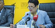 Бишкек мэриясынан алдындагы Билим берүү башкармалыгынын жетекчиси Сауле Мейрманова. Архив