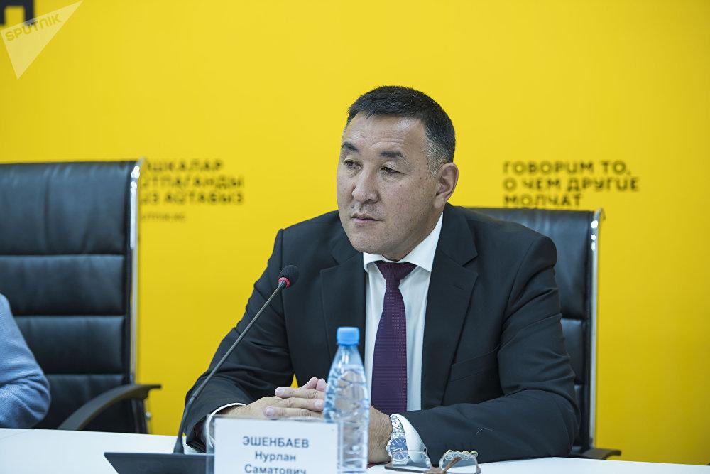 Начальник Управления капитального строительства мэрии Бишкека Нурлан Эшенбаев