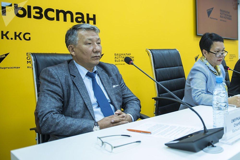 Начальник Общественно-государственного управления капитального строительства мэрии Бишкека Сталбек Омурканов