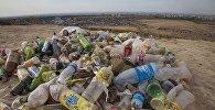 Мешки мусора вдоль дороги к холму Боз-Болток. Архивное фото