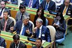 Президент Алмазбек Атамбаев Нью-Йоркто БУУнун Башкы Ассамблеясынын 72-жыйынына катышууда